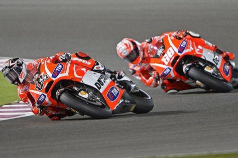 Die Ducati-Piloten fuhren in Katar ein einsames Rennen im Mittelfeld