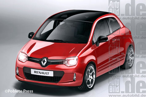 Renault Twingo (2015) auf Smart-Basis ILLUSTRATION