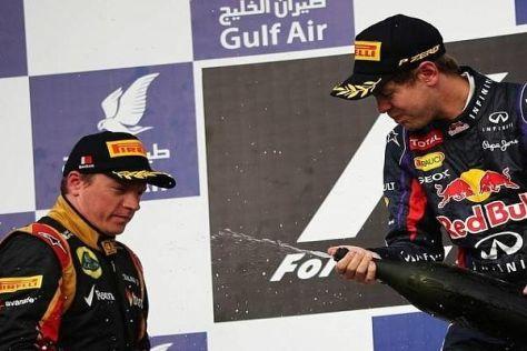 Kimi Räikkönen befand sich in Bahrain nicht auf einer Stufe mit Sebastian Vettel