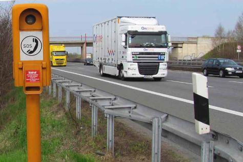 Notrufsäulen an Autobahnen
