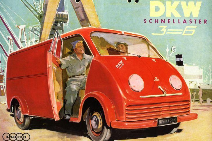 DKW Schnellaster Weiß Seite