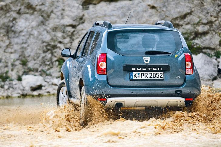 Dacia Duster im Matsch
