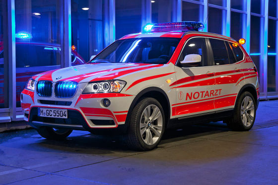 BMW X3 Notarzt-Einsatzfahrzeug