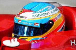 Alonso auf abtrocknender Strecke der Schnellste