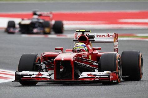 Felipe Massa hatte im letzten freien Kräftemessen die Nase knapp vorn