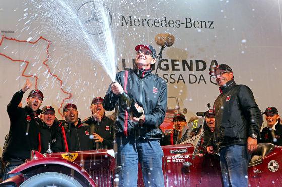 Mille Miglia 2013 Mozzi Gessler Zweitplatzierte