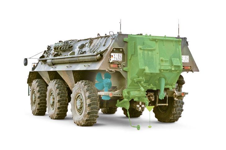 Transportpanzers Fuchs 1A8 Panzerung
