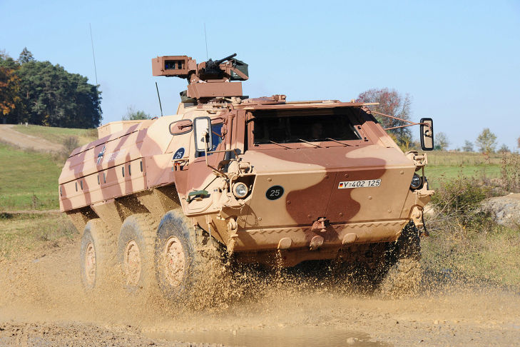 Transportpanzers Fuchs 1A8 vorne