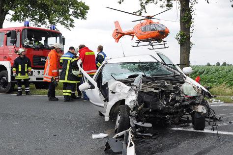 Unfall Rettungswagen Rettungshubschrauber