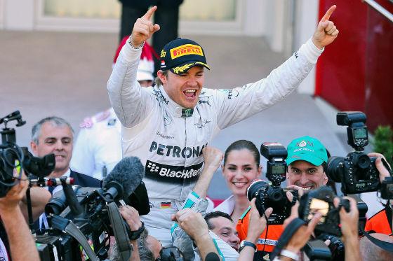 Nico Rosberg nach seinem Sieg beim GP Monaco 2013