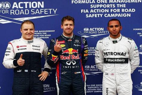 Sebastian Vettel sicherte sich auf dem Circuit Gilles Villeneuve die Pole-Position