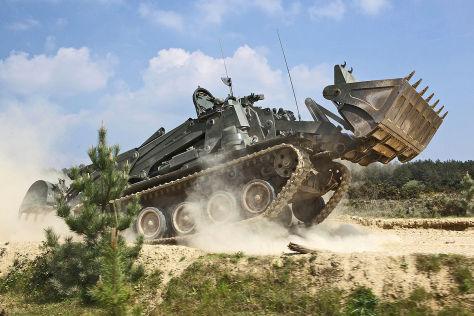 Gepanzerter Bagger Terrier Neuer Panzer Bagger F 252 R Die