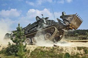 Terrier, der Panzer-Bagger