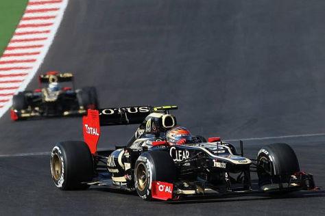 Romain Grosjean und Kimi Räikkönen taten sich zuletzt ziemlich schwer