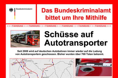 Anschlagserie auf Autotransporter