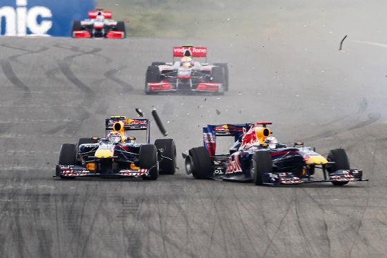 Vettel und Webber Crash Türkei-Grand-Prix 2010 in Istanbul