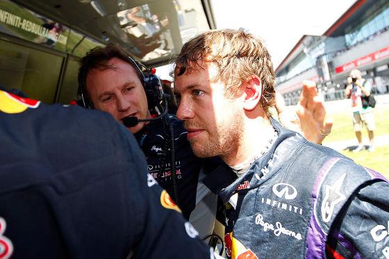 Sebastian Vettel nach dem Ausscheiden beim Großen Preis von Großbritannien in Silverstone