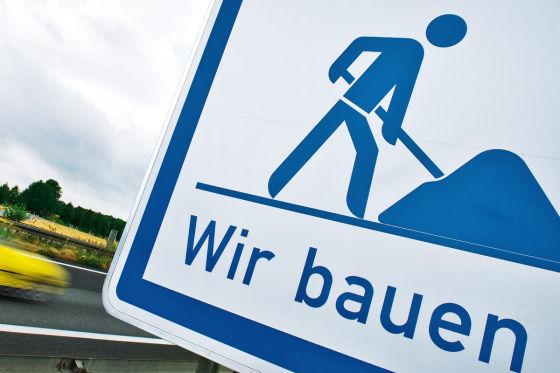 Baustellen-Schild