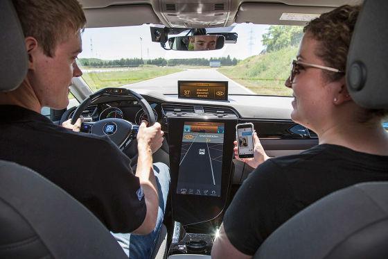 Ablenkung des Fahrers durch ein Handy