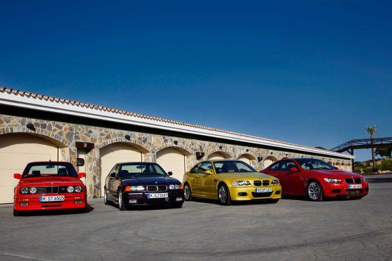 BMW M3 E30, E36, E46 und E90