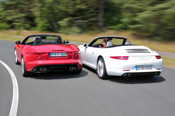 Jaguar F-Type Porsche 911