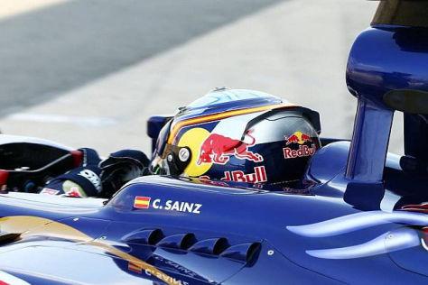 Junger Spanier im jungen Bullen: Carlos Sainz jun. im Testeinsatz