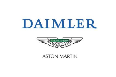 Montage Daimler und Aston Martin Logo