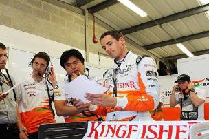 Ziel Platz fünf: Sutils Fehdehandschuh landet bei McLaren