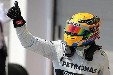 Lewis Hamilton hat nicht mit der Pole-Position gerechnet