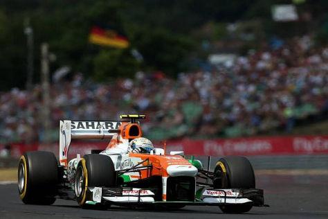 Adrian Sutil verpasste in Ungarn im Qualifying die Top 10 nur knapp