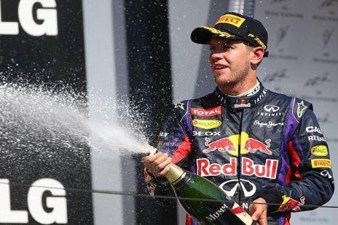Sebastian Vettel schaffte es in Ungarn erneut auf das Podium