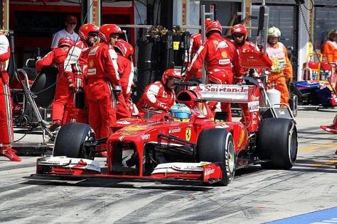 Fernando Alonso hätte lieber einen Stopp weniger gemacht - wie Lotus