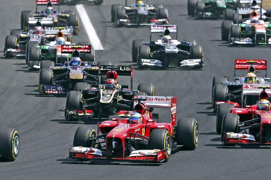 Fernando Alonso beim Großen Preis von Ungarn 2013