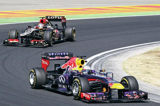 Sebatian Vettel beim Großen Preis von Ungarn 2013
