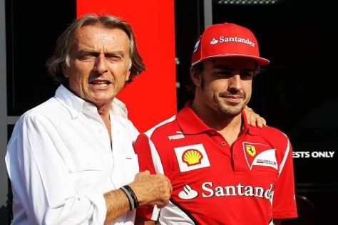 Luca di Montezemolo nahm sich Fernando Alonso an dessen Geburtstag zur Brust