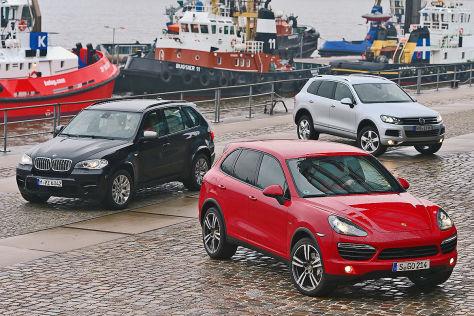 VW Touareg, Porsche Cayenne und BMW X5 als Diesel im ...