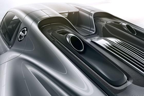 Porsche 918 Spyder Auspuff