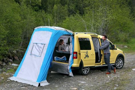 vw caddy tramper mit cross paket caravan salon 2013. Black Bedroom Furniture Sets. Home Design Ideas