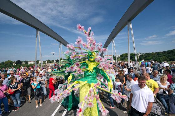 Feierliche Eröffnung der Waldschlößchenbrücke