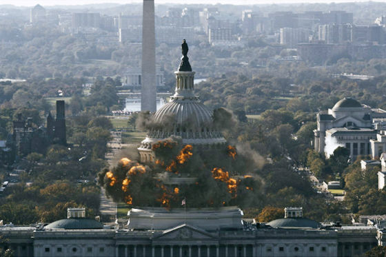 White House Down Explosion