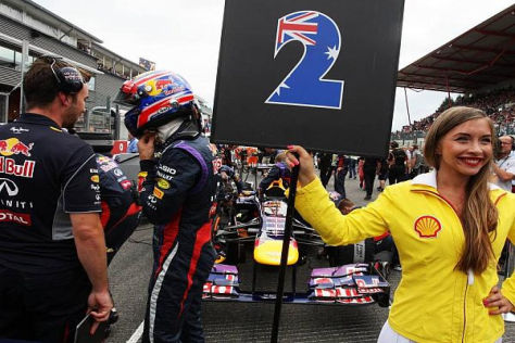 Wenn es in Richtung Start geht, ist Webbers Leistungsabfall meist nicht mehr weit