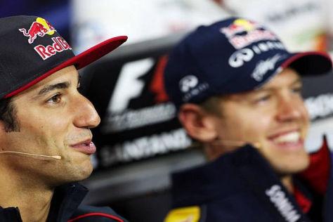 2014 Teamkollegen bei Red Bull: Daniel Ricciardo und Sebastian Vettel