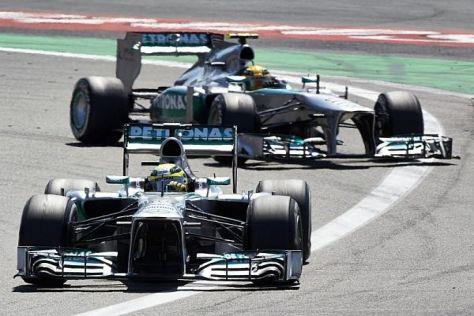 Nico Rosberg und Lewis Hamilton sind womöglich die stärkste Fahrerpaarung
