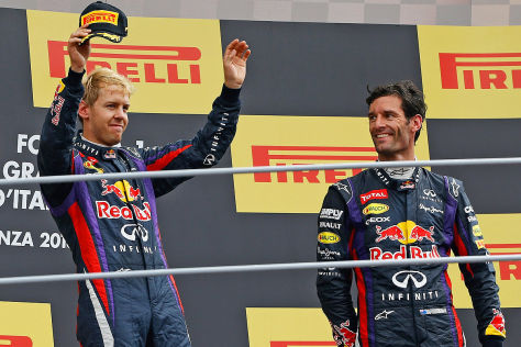 Sebastien Vettel nach seinem Sieg beim großen Preis von Monza