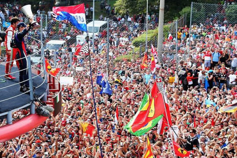 Die Tifosi waren von Sebastian Vettels Triumph in Monza nicht gerade begeistert
