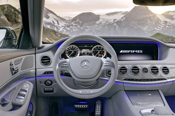 Mercedes S 63 AMG Innenraum Cockpit