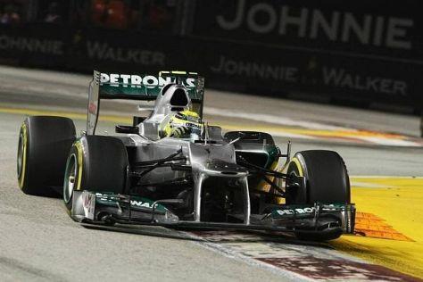Im vergangenen Jahr landete Nico Rosberg in Singapur auf Platz fünf