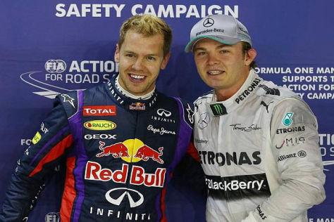 Nico Rosberg hätte Sebastian Vettel im Qualifying um ein Haar gepackt