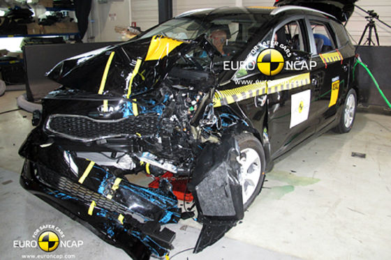 Kia Carens im Euro NCAP-Crashtest (September 2013)