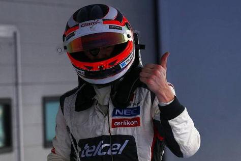 Nico Hülkenberg freut sich über Platz vier im Grand Prix von Südkorea